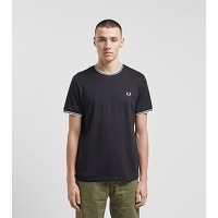 Fred perry t-shirt tipped ringer, noir