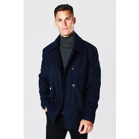 Tall - caban effet laine homme - navy - s, navy