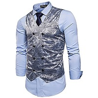 Sttlzmc homme paisley gilet double boutonnage...