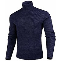 Iclosam pull chaud à col roulé homme pullover...