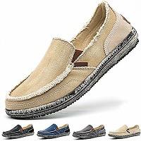 Homme chaussures en toile bateau espadrilles...