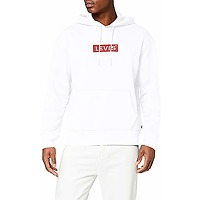 Levi's relaxed graphic hoodie sweat-shirt,...