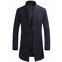 Youthup manteau homme hiver trench-coat chaud...