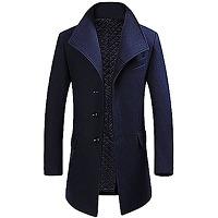 Allthemen manteau homme hiver long trench coat...