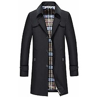 Junfeng trench-coat simple boutonnage pour...