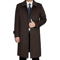 Vogstyle hommes manteau trench casual mi-long...